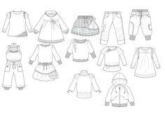 printable clothes templates for kids | Fashion Design Flat Sketches - Fashion Industry Network