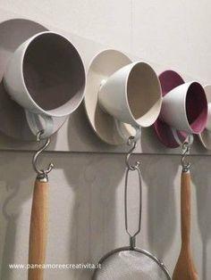 teacups as hooks.