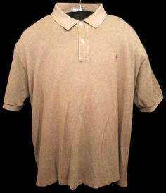 Polo By Ralph Lauren Brown Shirt Size 4XB Big Short Sleeve 100% Cotton Casual #RalphLauren #PoloRugby