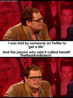 I think part of why this guy is a comedy legend is because he speaks realistically and his sarcasm makes me laugh until my ribs ache. Alan Carr