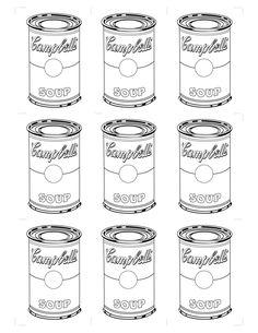 Andy Warhol Coloring Sheets | andy-warhol-latas-1.jpg