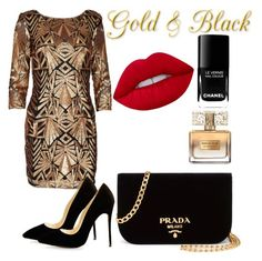 Designer Clothes, Shoes & Bags for Women Mood Boards, Lime Crime, Black Gold, Givenchy, Prada, Chanel, Shoe Bag, Polyvore, Stuff To Buy