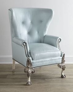 """Destiny"" Leather Wing Chair by Old Hickory Tannery at Horchow."
