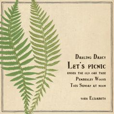 """""""Fern"""" Invitation, by John Derian, Paperless Post. http://paperless.ly/IaO2fo"""