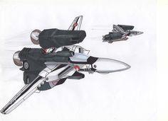VF-1 con aditamentos extra de combate