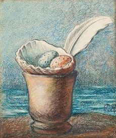 View Coquillage avec oeufs By Pierre Roy; pencil and pastel; x 15 cm. Access more artwork lots and estimated & realized auction prices on MutualArt. Pierre Roy, Shell Game, Say A Prayer, Pastel, Max Ernst, Chalk Drawings, Magritte, Joan Miro, Magazine Art