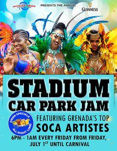 STADIUM CAR PARK JAM July 1st until Carnival