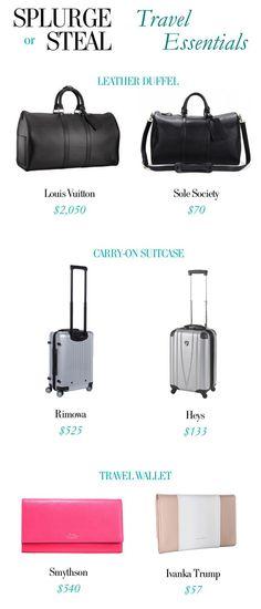 Splurge or Steal - Travel Essentials
