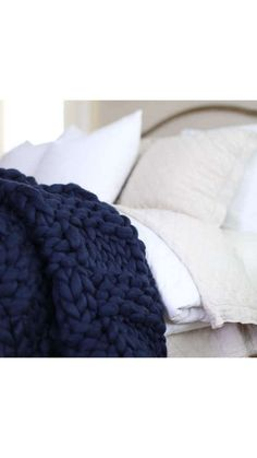 "GIFT IDEA! Chunky Merino Wool Throw in a beautiful Basket Weave pattern!! The Basket weave shows the depth of color and sheen of the yarn that is used because of the more sophisticated weave. Large Throw (40""x60"") is the perfect size to lay on the couch and be covered shoulder to toe! This is a great gift for someone who is always just a little colder than the rest of the family. It also looks great hanging on the back of the sofa, at the foot of the bed, or on a blanket ladder. #affiliate"