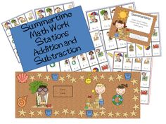 Math Work Stations Blog Party Chapter 5 Addition and Subtraction