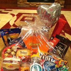 Valentine gift basket for him
