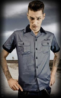 http://www.rockabilly-rules.fr/Mecs/Chemises/Rumble59-Bowling-Shirt-Bills-Speed-Shop-bleu.html