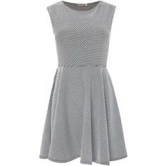 Wal-G Short sleeve textured fit and flare dress ($22) ❤ liked on Polyvore