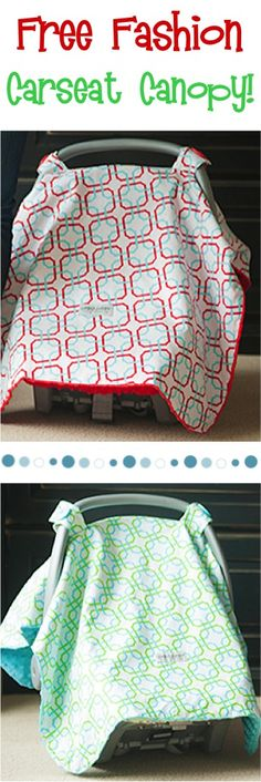 FREE Fashion Carseat Canopy for Babies! {just pay s/h} ~ these make such great Baby Shower gifts, too!