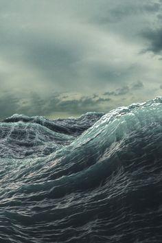 Die rauhe See. Ich liebe es, am Meer zu sein und dem Sturm zuzusehen, wie er mit den Wellen spielt ♡ The rough sea. I love to be by the sea watching the storm play with the waves ♡ Sea And Ocean, Ocean Beach, Sky Sea, Stormy Sea, All Nature, Sea Waves, Am Meer, Pics Art, Ocean Life