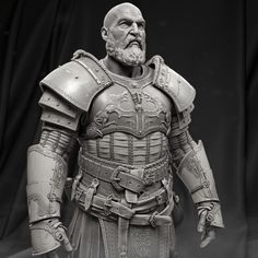 Hi guys, here are some of the ZBrush work that the team created for the new God of War. We are all super excited to share with the community and thanks Pixologic team for the support through the production. Zbrush Character, 3d Character, Character Design, Larp, Kratos God Of War, 3d Figures, Anatomy Poses, New Gods, 3d Fantasy