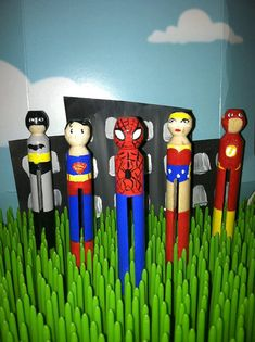 Clothespin dolls, Justice League!