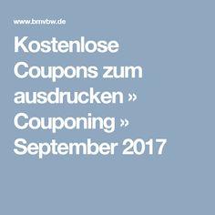 Kostenlose Coupons zum ausdrucken » Couponing » September 2017
