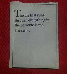 The life that runs through everything...