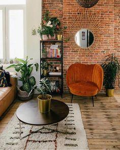 Bohemian Latest And Stylish Home decor Design And Life Style Ideas - Bohemian Home Living Room Bohemian House, Bohemian Decor, Bohemian Interior Design, Interior Modern, Interior Colors, Interior Plants, Vintage Bohemian, Stylish Home Decor, Cheap Home Decor