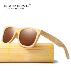 0b24e5f695 R$ 77.62 40% de desconto|Aliexpress.com: Compre EZREAL Novos Produtos de  Moda Dos Homens Das Mulheres De Vidro Lente Polarizada Óculos De Sol De  Bambu De ...
