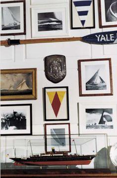 Ideas for Decorating a Nautical Home - seaside nautical design ideas Nautical Design, Nautical Home, Vintage Nautical, Coastal Homes, Coastal Living, Coastal Style, Coastal Decor, Nantucket, Les Hamptons