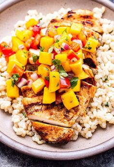 Chipotle Lime Grilled Chicken with Mango Salsa - Recipe Runner Grilled Chicken Strips, Grilled Chicken Breast Recipes, Spicy Grilled Chicken, Lime Chicken Recipes, Coconut Lime Chicken, Mango Salsa Chicken, Mango Avocado Salsa, Grilling Recipes, Cooking Recipes