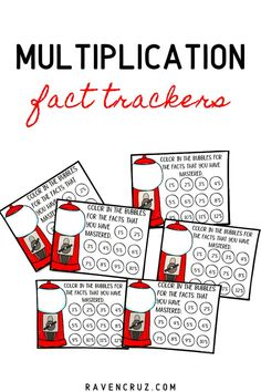 Help your students keep track of their mastered multiplication facts with these bubble gum-themed fact trackers. Students can stick these in their folders or multiplication interactive notebooks to keep track of the success for facts 1-10 or 1-12. Recommended for grades 2-4. #3rdgrade #thirdgrade #multiplication #homeschool Multiplication Strategies, Math Rotations, Teaching Multiplication, Math Fractions, Math Centers, Maths, Math Notebooks, Interactive Notebooks, Word Problems 3rd Grade