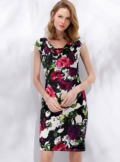 72877cee Chic Flower Print Sleeveless Sheath Dress Happy Mothers Day, Latest Dress,  Mother Gifts,