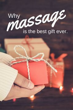 Here are 4 reasons why massage should be at the top of your holiday gift list.