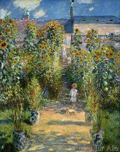 Claude Monet - Le jardin de Monet à Vétheuil