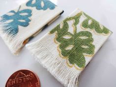 Miniature woven kitchen towels set of 2 1:12 by LizzieMcDesigns
