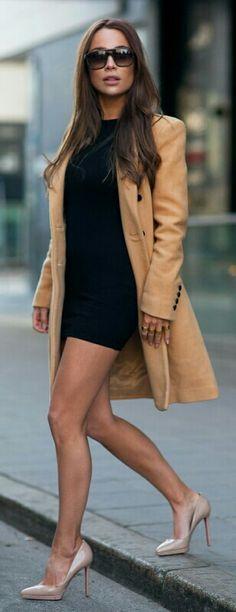 Shoes: CHRISTIAN LOUBOUTIN Dress: ASOS PETIT Coat: SELECTED FEMME Sunglasses: YSL