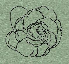 Gardenia outline