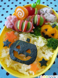 かぼちゃの皮で♪ハロウィン弁当 | キャラクター弁当 | OCNお弁当クラブ レシピ