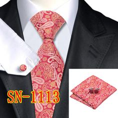 Silk Tie and Pocket Square Set For Men