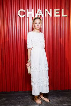 """Sasha Luss attends the Chanel Replica Show In Moscow """"Metiers D'Art Paris - Hamburg 2017-18"""" on May 31, 2018 in Moscow, Russia."""