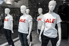Window display with mannequins by Cebas on Creative Market