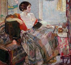 Richard Edward Miller - Woman Seated at a  Dressing Table 1925