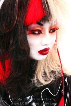 Extreme Geisha makeup | Sugarpill Cosmetics Halloween Make Up give away! « Kalamari Kastle