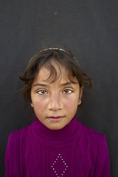 Mariam Aloush, 8, from Homs, Syria'I remember our home in Syria and my school there. I just want to go back' says Aloush