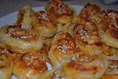 Fotorecept: Pizza slimáky z lístkového cesta