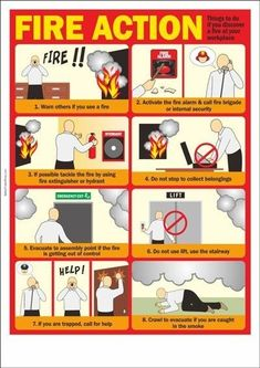 Fire safety poster describing about first things to do if you discover a fire at your workplace. Fire Safety Poster, Health And Safety Poster, Fire Safety Tips, Safety Posters, Food Safety, Office Safety, Workplace Safety, Fire Training, Safety Training