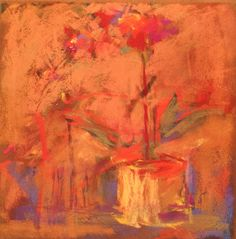 Red Orchid - Original Pastel - Anne Gee
