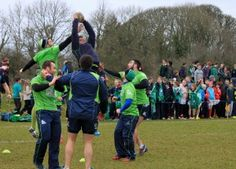 Connacht Squad visit on Friday of February 2015 On Friday last, of February 2015 at 11 o'clock, Carrick on Shannon RFC hosted Connacht Rugby team Rugby Club, Dads, Soccer, Sports, Hs Sports, Futbol, Fathers, Soccer Ball, Excercise