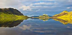 Álftavatn Lake, South Iceland - Close to Hrafntinnusker, in the morning light, in still air. • See More at YouTube > https://www.youtube.com/playlist?list=PLZiVMs0k1TBzCqZkefOHmcL8hdBw9iNXB
