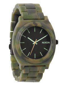 Mattschwarze Armbanduhr mit Camouflage-Effekt Time Teller Acetate - NIXON - Uhren NIXON für Herren, Herrenmode bei frontlineshop.com, Mehr als 250 Marken zu entdecken, Schneller Versand und 100 Tage Rückgaberecht