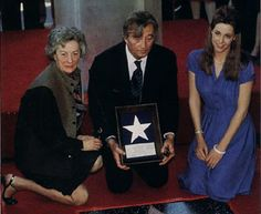 Bob  with  his  wife  Dorothy  and  daughter  Petrine  receiving  his  star  on  the  Hollywood  Walk  of  Fame  in  January  1984.