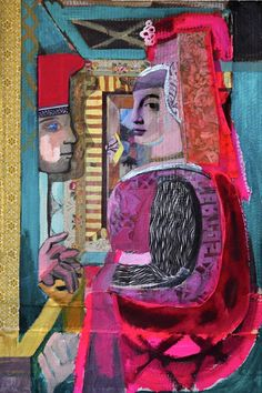 Fra Filippo Lippo copy, Man and Woman at a Casement. $300.00 USD, via Etsy.