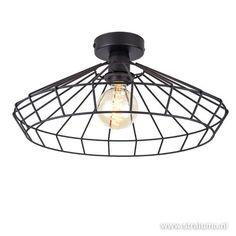 Draad plafondlamp zwart hal, keuken - www.straluma.nl